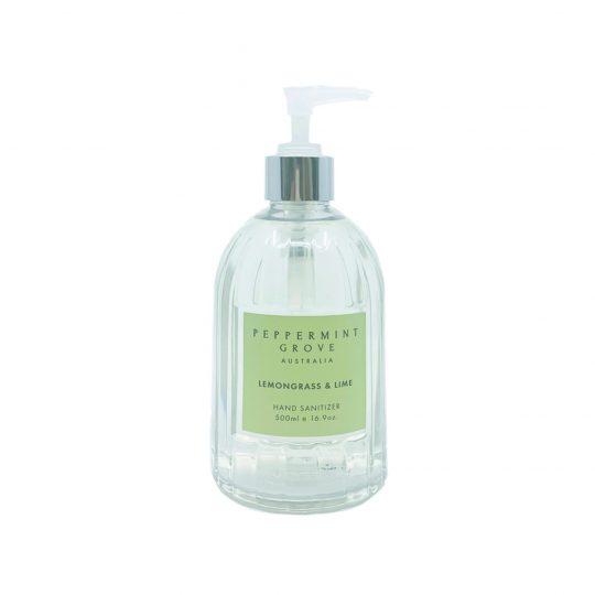 lemongrass and lime hand sanitiser